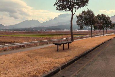 アピカから阿蘇五岳を望む